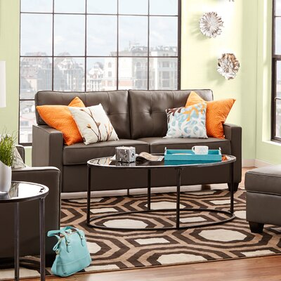Ella Loveseat Upholstery: Grey