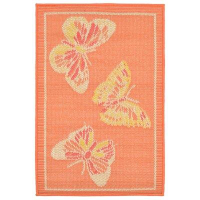 Jeanie Orange Indoor/Outdoor Area Rug Rug Size: 111 x 211