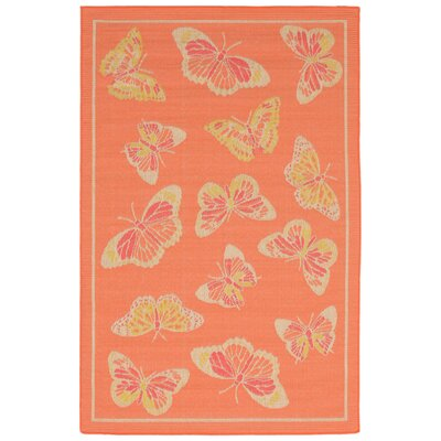 Jeanie Orange Indoor/Outdoor Area Rug Rug Size: 410 x 76