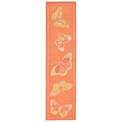 Jeanie Orange Indoor/Outdoor Area Rug Rug Size: Runner 111 x 76