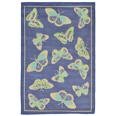 Derosier Blue Indoor/Outdoor Area Rug Rug Size: 410 x 76