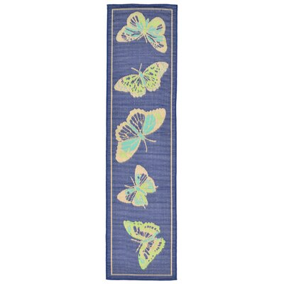 Janette Blue Indoor/Outdoor Area Rug Rug Size: Runner 111 x 76