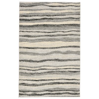 Deray Waves Gray/Beige Indoor/Outdoor Area Rug Rug Size: 710 x 910