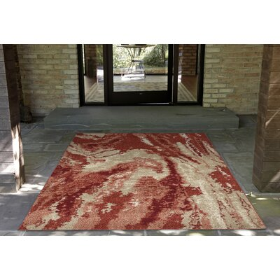 Karly River Red/Beige Indoor/Outdoor Area Rug Rug Size: 710 x 910