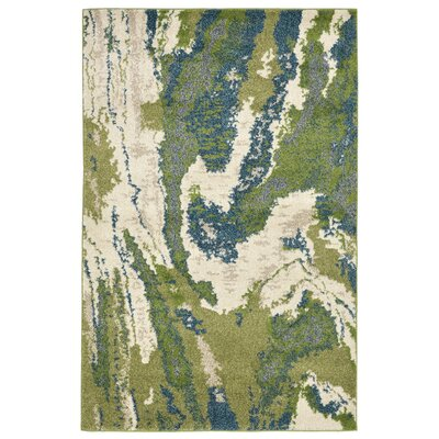 Karly River Green/Beige Indoor/Outdoor Area Rug Rug Size: 410 x 76