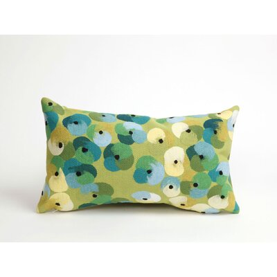Palmira Pansy Lumbar Pillow Color: Lime