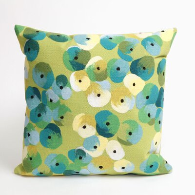 Palmira Pansy Throw Pillow Color: Lime