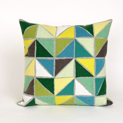 Ayla Triangles Throw Pillow Color: Green