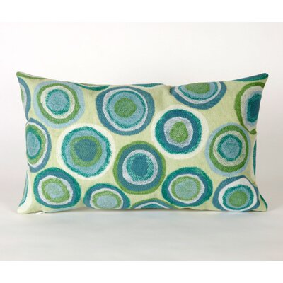 Palmira Puddle Lumbar Pillow Color: Green