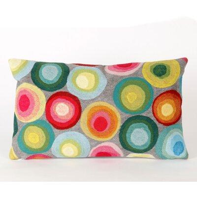 Palmira Puddle Lumbar Pillow Color: Grey