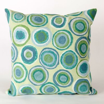 Palmira Puddle Dot Throw Pillow Color: Green