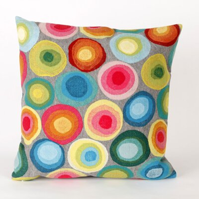 Palmira Puddle Dot Throw Pillow Color: Grey