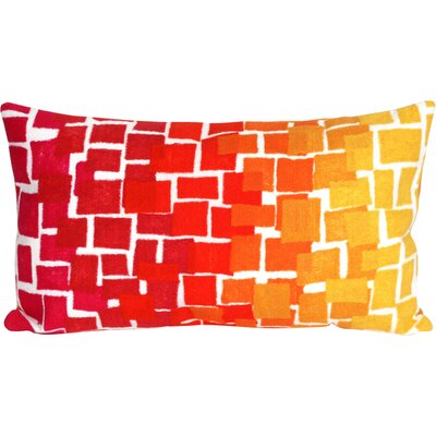 Ayla Ombre Tile Lumbar Pillow Color: Red
