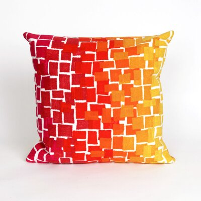 Ayla Ombre Tile Throw Pillow Color: Red