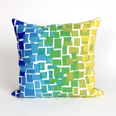Palmira Ombre Tile Throw Pillow Color: Blue