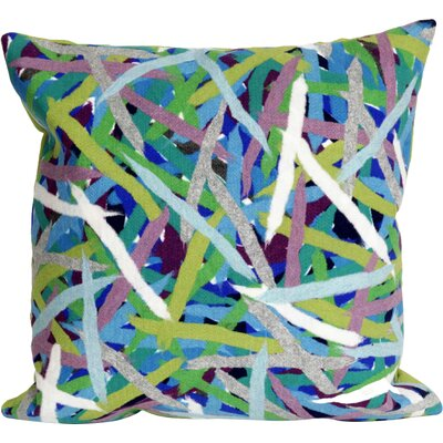 Ayla Pick Up Sticks Throw Pillow Color: Blue