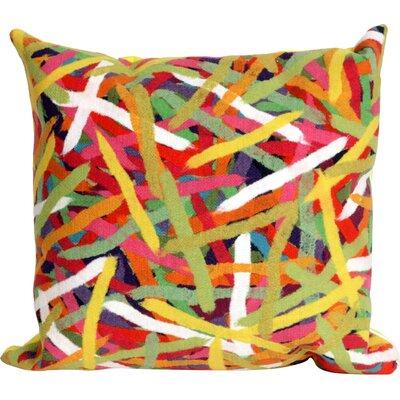 Ayla Pick Up Sticks Throw Pillow Color: Yellow