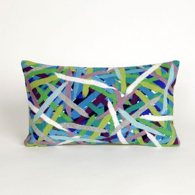 Ayla Pick Up Sticks Lumbar Pillow Color: Blue