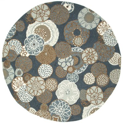Derby Denim Outdoor Rug Rug Size: Round 8
