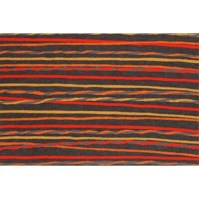 Palmira Twist Stripe Doormat Color: Grey / Warm