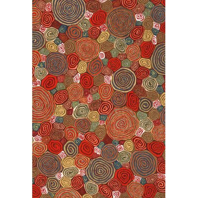 Janell Swirls Indoor/Outdoor Area Rug Rug Size: 36 x 56