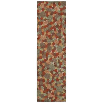 Janell Swirls Indoor/Outdoor Area Rug Rug Size: Runner 23 x 8