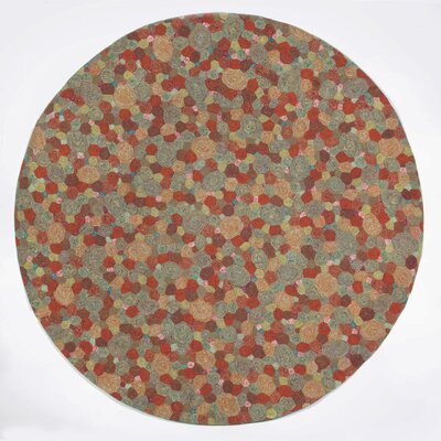 Derek Swirls Indoor/Outdoor Area Rug Rug Size: Round 8