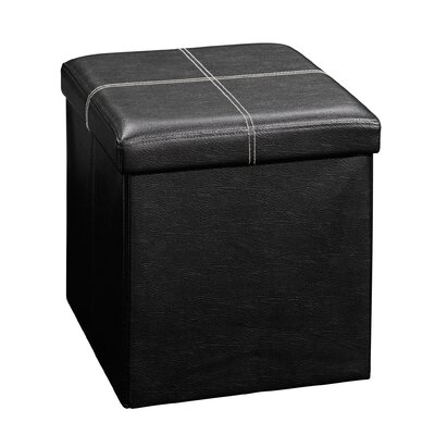 Gerardo Upholstered Storage Cube Ottoman Upholstery: Black