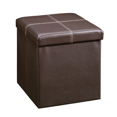 Gerardo Upholstered Storage Cube Ottoman Upholstery: Brown