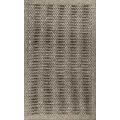 Felipe Charcoal Indoor/Outdoor Area Rug Rug size: 76 x 103