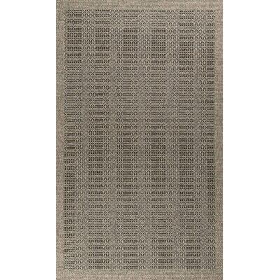 Felipe Charcoal Indoor/Outdoor Area Rug Rug size: 5 x 73