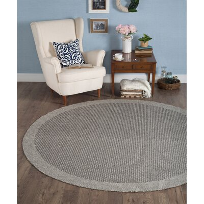 Felipe Charcoal Indoor/Outdoor Area Rug Rug size: Round 76