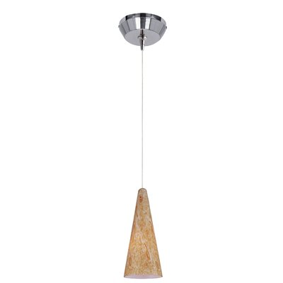 Vauxhall 1-Light RapidJack Pendant and Canopy Finish: Satin Nickel, Shade Color: Gold