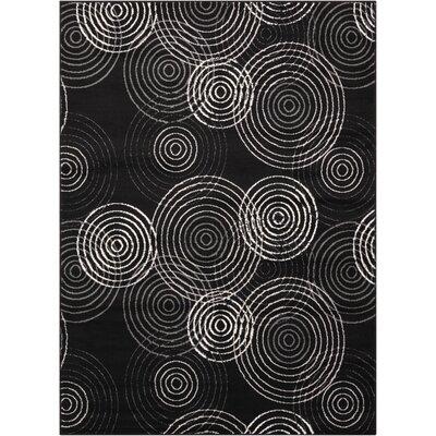 Densmore Black Area Rug Rug Size: 53 x 73
