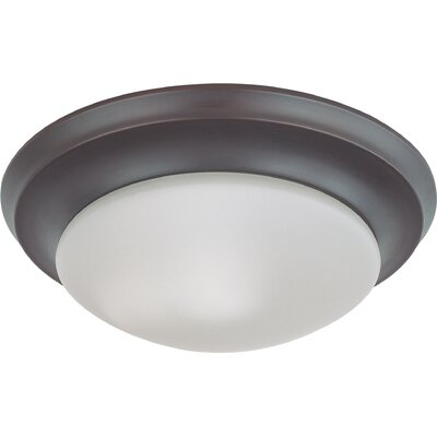 Bridgehampton 1-Light Flush Mount Finish: Mahogany Bronze