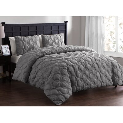 Clyde Duvet Set Size: King, Color: Taupe