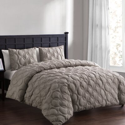 Clyde Duvet Set Size: Queen, Color: Taupe