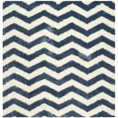 Kimberley Blue Area Rug Rug Size: Square 4