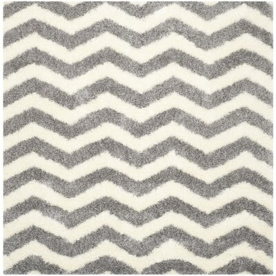 Kimberley Gray/Beige Area Rug Rug Size: Square 67
