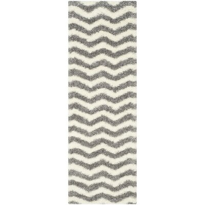 Kimberley Gray/Beige Area Rug Rug Size: Runner 23 x 7
