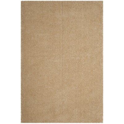Connor Gold Area Rug Rug Size: 51 x 76