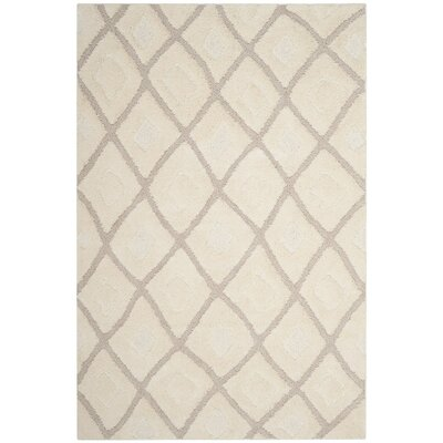 Napfle Beige Area Rug Rug Size: Rectangle 51 x 76