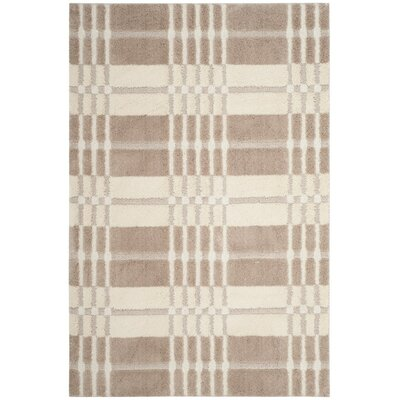 Connor Cream/Beige Area Rug Rug Size: 51 x 76