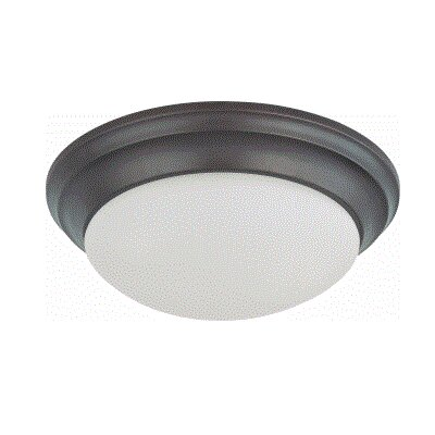 Candice 1-Light Flush Mount Finish: Mahogany Bronze