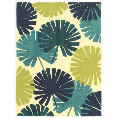 Bryce Hand-Tufted Blue/Green Outdoor Area Rug Rug Size: 110 x 210