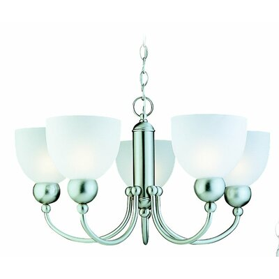 Terrance 5-Light Glass Shaded Chandelier