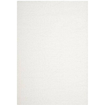 White Area Rug Rug Size: Square 67 x 67