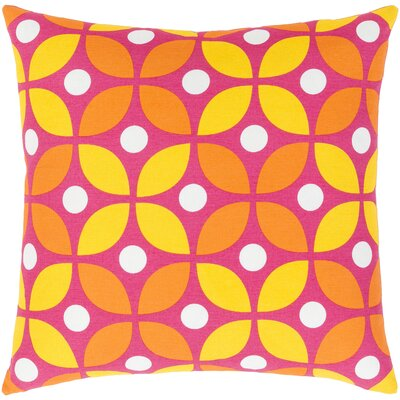 Clayton Cotton Pillow Cover Color: Yellow/Orange, Size: 20 H x 20 W x 1 D