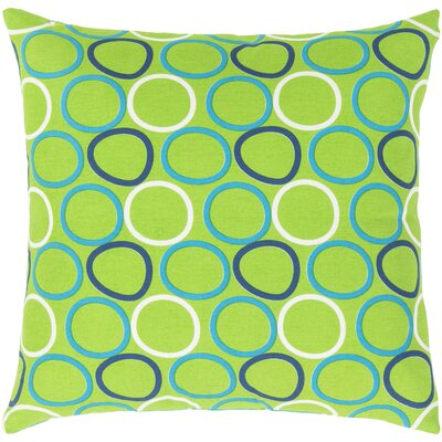 Clayton Cotton Pillow Cover Color: Green, Size: 22 H x 22 W x 1 D