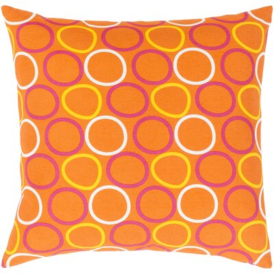 Clayton Cotton Pillow Cover Size: 18 H x 18 W x 1 D, Color: Orange